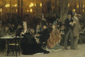 Илья Ефимович Репин. Парижское кафе