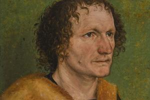 Портрет мужчины на зелёном фоне (приписывается)