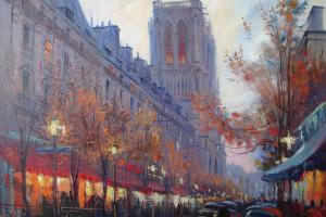 Paris. Night Notre Dame