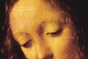 Леонардо да Винчи. Мадонна в скалах (фрагмент)