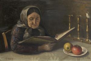 Юдель Пэн. Пожилая женщина читает
