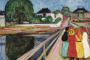 Edvard Munch. Girls on a bridge
