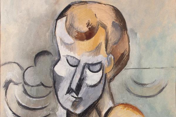 Пабло Пикассо. Мужчина со скрещенными на груди руками