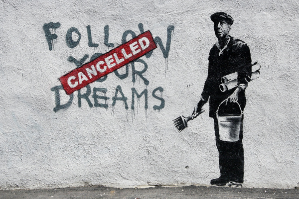 Banksy. Follow your dreams (Canceled)