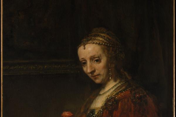 Рембрандт Харменс ван Рейн. Портрет женщины с гвоздикой
