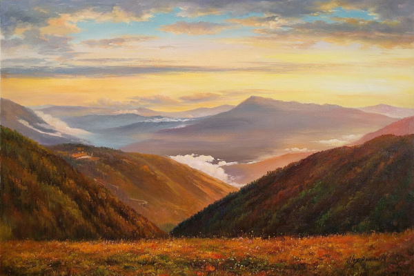 Alexander Romm. Sunset in the mountains