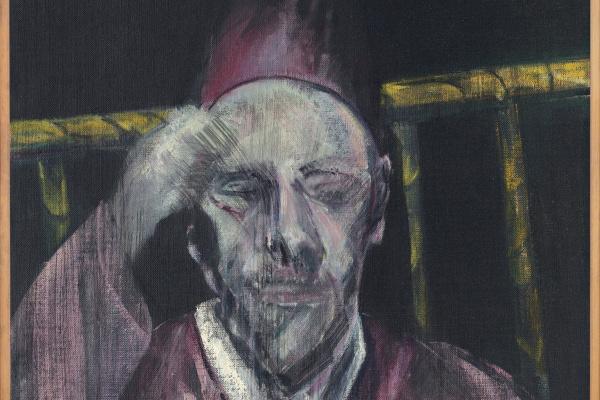 Фрэнсис Бэкон. Голова с поднятой рукой (портрет Папы Пия XII)