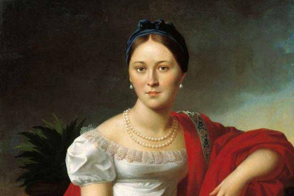 Иосиф Иванович Олешкевич. Портрет молодой женщины