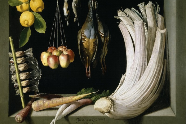 Juan Sanchez de Cotán. Still life with dead bird, fruit and vegetables