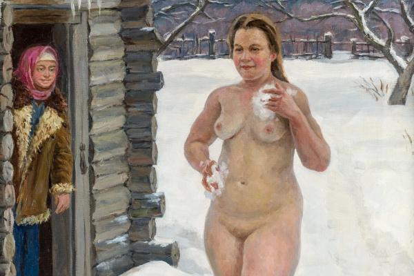 Vyacheslav Vyacheslavovich Sysoev. 1937-2006. Country sauna. 1978