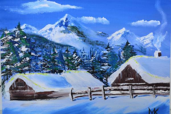 Maxim Mikhailovich Kochurin. Winter in the mountains