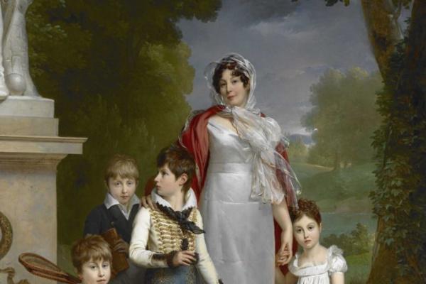 Francois Pascal Simon Gerard. Portrait of Louise-Antoinette-Scholastique Géhéneuc, Maréchale Lannes, duchesse de Montebello, with her children