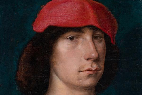 Михель Зиттов. Портрет молодого человека в красной шапке