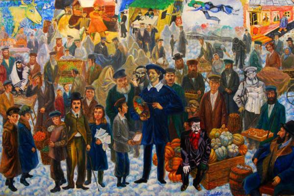 Виктор Франтишкович Бриндач. 1.Диалог с Шагалом. 2.перекресток. 3,Саломея с головой Иоана.4.Н.Рубцов.\скульптура\.5.Иерусалимский синдром.   \