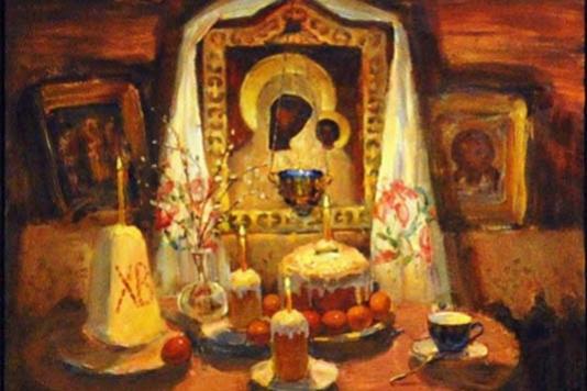 Фёдор Иванович Жуков. Пасхальный натюрморт