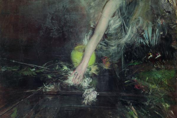 Джованни Больдини. Рука и цветочная ваза
