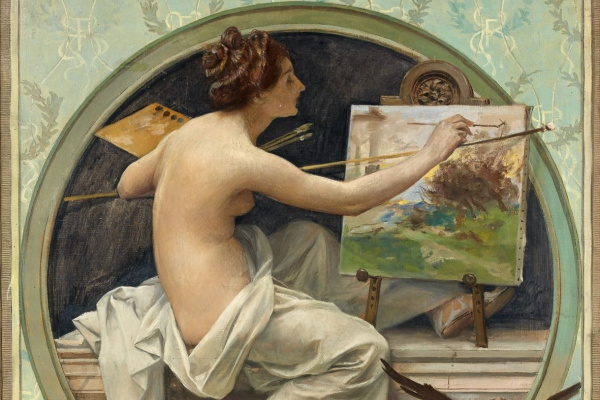 Франсуа Фламенг. Аллегория живописи.
