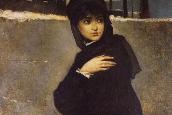 Ramon Casas i Carbó. Portrait of a young woman in black