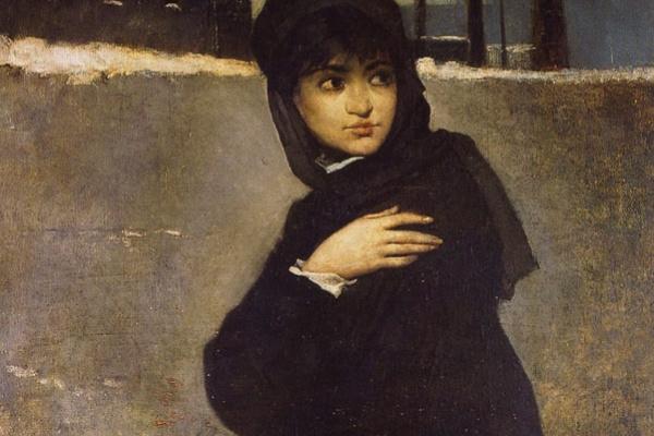 Рамон Касас Карбо. Портрет молодой женщины в черном
