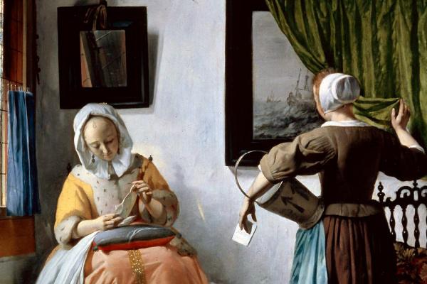 Габриель Метсю. Женщина, читающая письмо