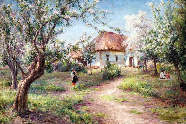 Иосиф Евстафьевич Крачковский. В цветущем саду
