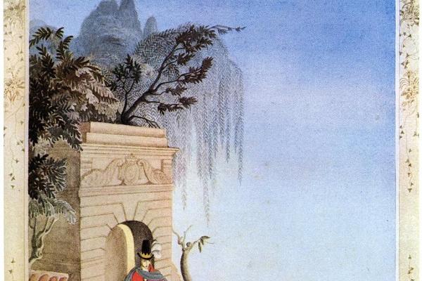 """Кей Нильсен. Иллюстрация к сказке """"Свинопас"""" Г. Х. Андерсена"""