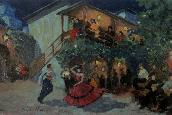 "Konstantin Korovin. A sketch of the scenery for the ballet ""don Quixote"""