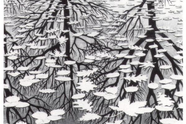 Maurits Cornelis Escher. Three of the world