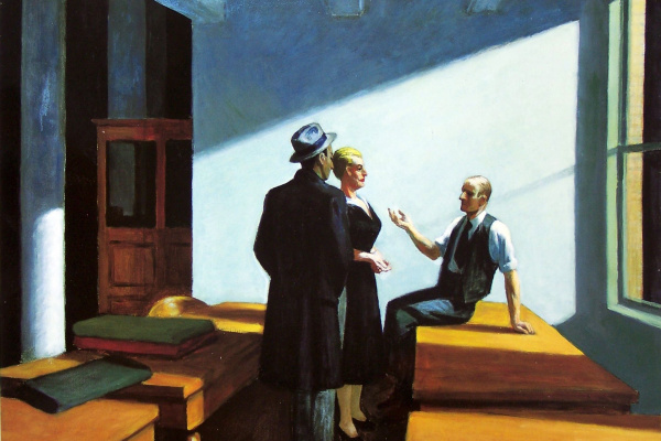 Edward Hopper. Conference at night
