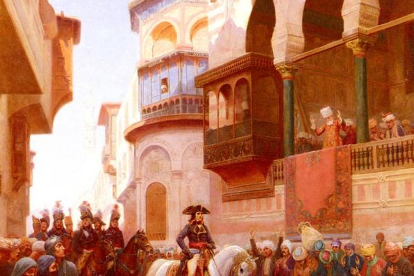 Гюстав Бургейн. Вступление Наполеона в Каире