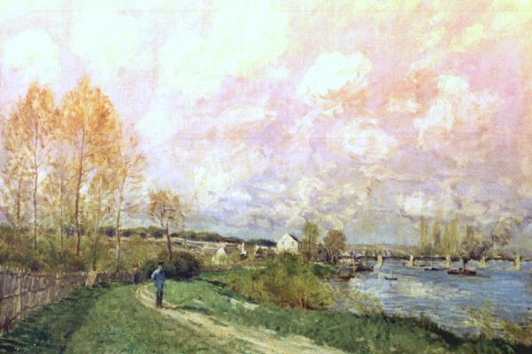Alfred Sisley. Summer at Bougival