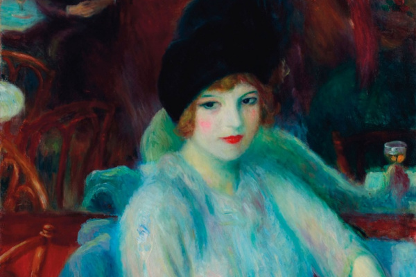 William James Glacens. Cafe Lafayette (Portrait of Kay Laurell)