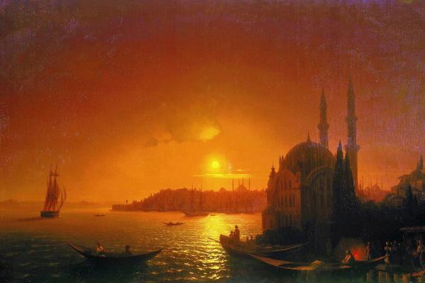Иван Константинович Айвазовский. Вид Константинополя при лунном освещении