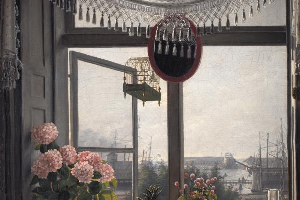 Мартинус Рорби. Вид из комнаты художника