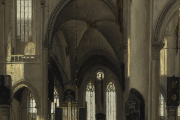 Emmanuel de Witte. INTERIOR OF A GOTHIC PROTESTANT CHURCH