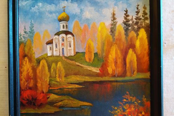 Nikolay Vladimirovich Vladimirov Ich. Temple over water