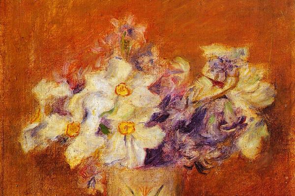 Пьер Огюст Ренуар. Цветы в вазе