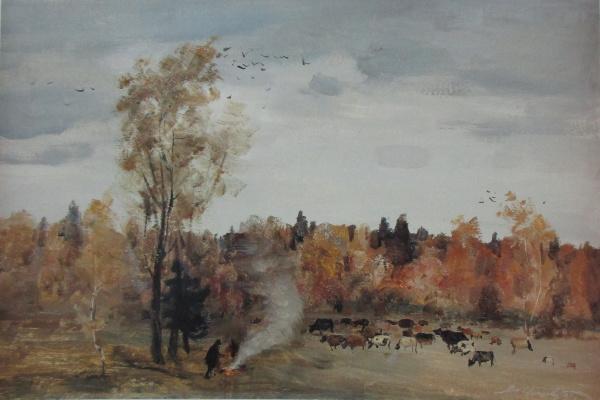 Igoshev V.A.. Gloomy day. Autumn in Muranovo.