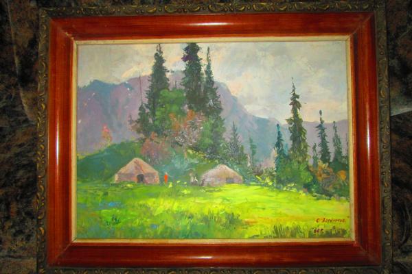 Семен Григорьевич Алейников. Юрты в горах