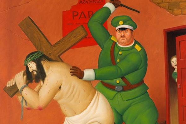 Фернандо Ботеро. Христос, несущий крест