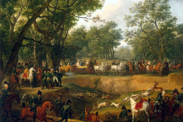 Karl Verne. Napoleon on a hunt in the forest of Compiegne