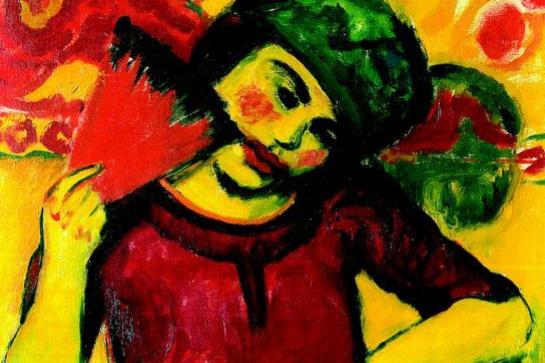 Макс Пехштейн. Девушка с красным веером