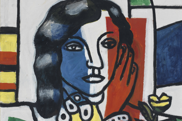 Fernand Leger. Young Girl Holding a Flower