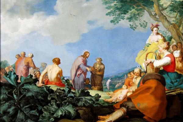 Абрахам Блумарт. Иисус кормит пять тысяч (Чудо умножения хлебов)