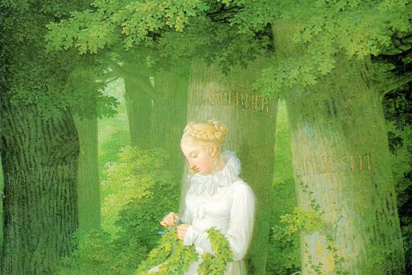 Georg Friedrich Kersting. Netting wreath