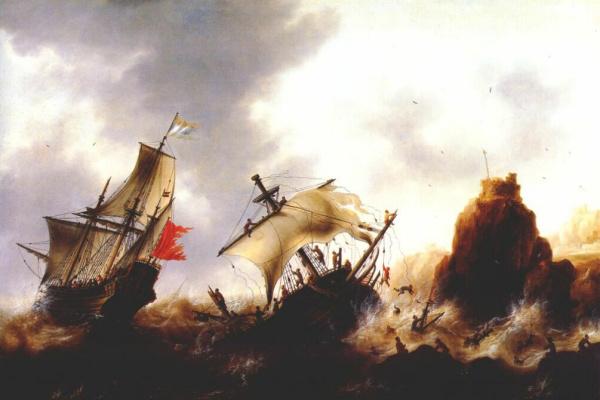 Якоб Беллевуа. Кораблекрушение во время шторма