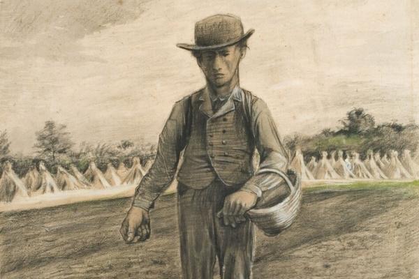 Винсент Ван Гог. Сеятель с корзиной