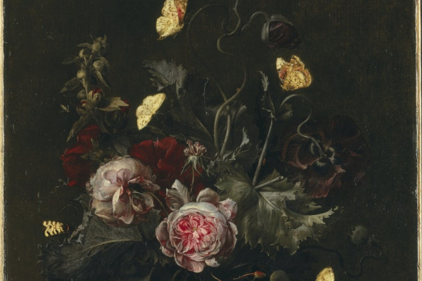 Otto Marceus van Scriec. A bouquet of flowers