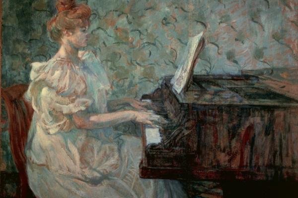 Henri de Toulouse-Lautrec. Madam Misia Natanson at the piano