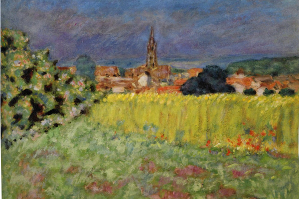 Pierre Bonnard. Wheat field in front of the church